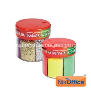 NIKOFFICE Porporina 6 colori in barattolo 50gr.