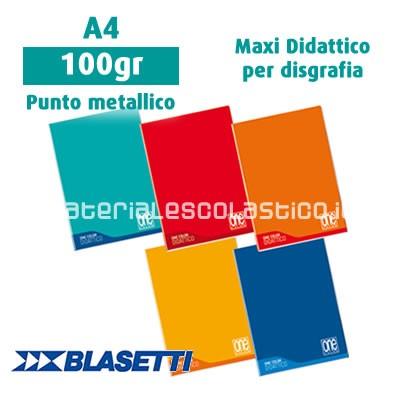 BLASETTI ONE COLOR Maxi Quaderno Didattico per disgrafia