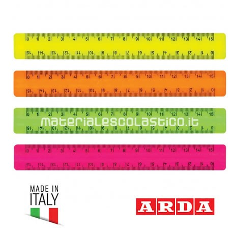 Righello 15cm fluo ARDA