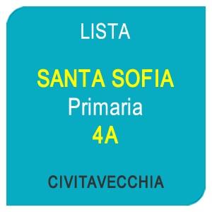 """Online la lista """"SANTA SOFIA"""" Scuola Primaria 4A – CIVITAVECCHIA (RM)"""