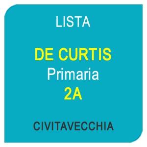 """Online la lista """"DE CURTIS"""" Scuola Primaria 2A – CIVITAVECCHIA (RM)"""