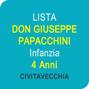 """Online la lista """"DON GIUSEPPE PAPACCHINI"""" Scuola dell'Infanzia 4 anni – CIVITAVECCHIA (RM)"""