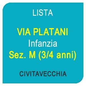 """Online la lista """"VIA PLATANI"""" Scuola dell'Infanzia Sez.M Bambini 3/4 anni – CIVITAVECCHIA (RM)"""